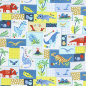 Hear Me Roar! - Patchwork Blue Yardage