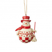 Jim Shore Heartwood Creek Nordic Noel Snowman Ornament
