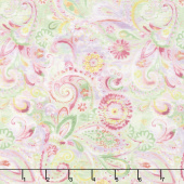 Bohemian Dreams - Dream Paisley Pink Yardage