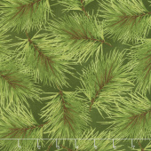 Poinsettia & Pine - Fresh Pine Dark Green Yardage