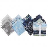 Winter's Grandeur 7 Sky Metallic Fat Quarter Bundle