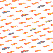 Hot Wheels - Logo White Yardage