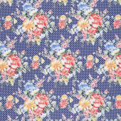 Cherry Lemonade - Small Bouquet Blue Yardage