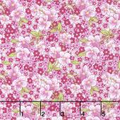 Amorette - Packed Floral Purple Yardage
