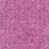 William's Garden Batiks - Feathers Amethyst Yardage