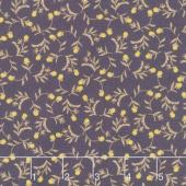 Tell the Bees - Dandelion Ditsy Aubergine Yardage