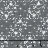 Palm Canyon - Hexagon Charcoal Yardage