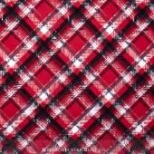 Scotty Love - Pet Plaid Red Flannel Yardage