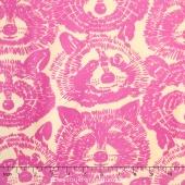 Nicole's Prints - Rocky Raccon Pink Yardage