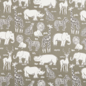 Safari Life - Safari Kingdom Ash Yardage