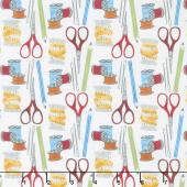 Crafty Studio - Sewing Kit White Yardage