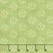 Woolies Heritage Flannel - Circle Dots Green Yardage