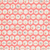 Flower Market - Hoops Coral Yardage