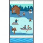 Brawny Bears Flannel - Lake Fishing Lake Flannel Panel