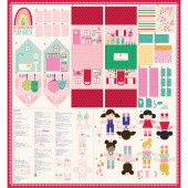 """Best Friends Forever - Cut & Sew Playhouse 65"""" x 60"""" Packaged Panel"""