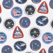 Out of this World with NASA - Nasa Patches White Yardage
