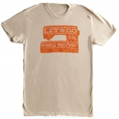 Let's Go to the Sewing Machine Small Women's Fitted Crew Neck T-Shirt - Cream