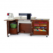Wallaby II Sewing Cabinet - Teak