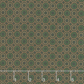 October Morning - Dotted Hexies Brown Yardage