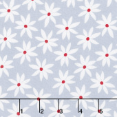 Cherry Twist - Daisy Dot Gray/Cherry Yardage