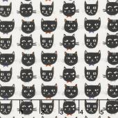Cats, Bats and Jacks - Cats Cream Yardage