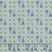 Home Sewn - Scissors Blue Yardage