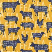 FFA Forever Blue - FFA Meat Cuts Gold Yardage