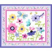 Flutter the Butterfly - Butterfly Quilt & Play Mat Lilac Panel