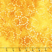 Artisan Batiks - Round and Around Swirls Sunshine Yardage