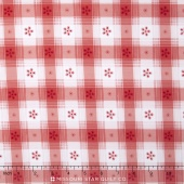 Simply Chic - Toile Check Red Yardage