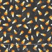 Halloweenie - Franken'Corn Charcoal Yardage
