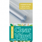 "Premium Clear Vinyl  Roll Pack 16"" x 1.5 yds"