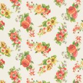 Flea Market Mix - Floral Parchment Yardage