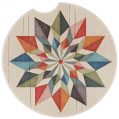 Quilt Car Coaster - Hex Star