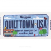 Row by Row Official 2016 License Plate - Quilt Town USA