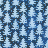 Winter Frost Batiks - Nordic Trees Ocean Yardage