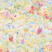 Flights of Fancy - Butterfly Fields Multi Digitally Printed Yardage