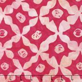Kaffe Artisan Batik - Artisan Stars Pink Yardage