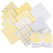 Penned Pals Flannel Yellow Colorstory Fat Quarter Bundle