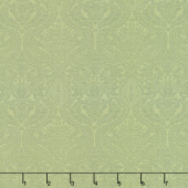 Lilacs in Bloom - Damask Light Green Yardage