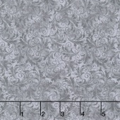 Echo - Tonal Filigree Grey Yardage