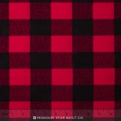 Mammoth Flannel - Buffalo Check Red Yardage
