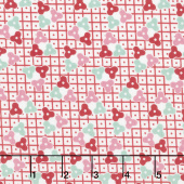 Lottie Ruth - Lattice Pink Yardage