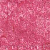 Sunset Plumes Batiks - Vertical Plumes Raspberry Yardage