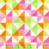 Confetti - Half Square Triangles Pink & Green Yardage
