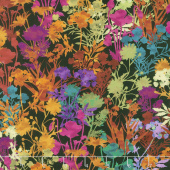 Dreamscapes II - Floral Black/Multi Digitally Printed Yardage