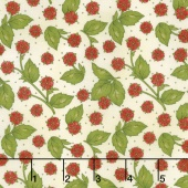From the Farm - Strawberry Blossoms Natural Yardage