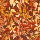 Autumn Air - Rustling Leaves Maple Metallic Yardage