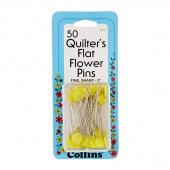 Flat Flower Pins Yellow