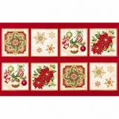 Holiday Flourish 10 - Holiday Christmas Metallic Panel